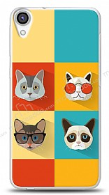 HTC Desire 820 Four Cats Kılıf