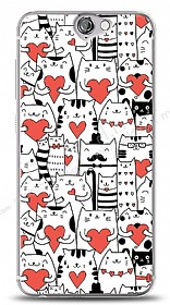 Dafoni HTC One A9 Love Cats Kılıf