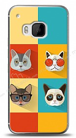 HTC One M9 Four Cats Kılıf