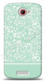 Dafoni HTC One S Green Flower K�l�f