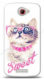 Dafoni HTC One S Sweet Cat K�l�f