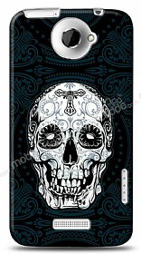 Dafoni HTC One X Black Skull Kılıf