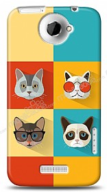 HTC One X Four Cats Kılıf