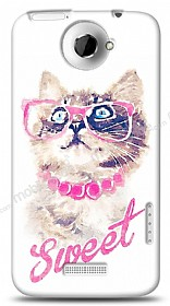 Dafoni HTC One X Sweet Cat Kılıf