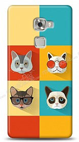 Huawei Ascend Mate S Four Cats Kılıf