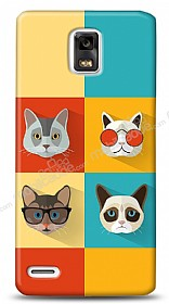 Huawei Ascend P1 Four Cats Kılıf