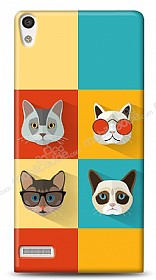 Dafoni Huawei Ascend P6 Four Cats K�l�f