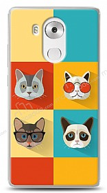 Huawei Mate 8 Four Cats Kılıf