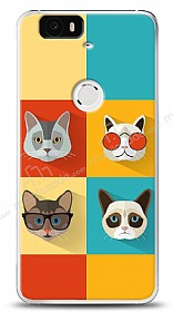 Huawei Nexus 6P Four Cats Kılıf