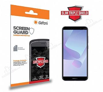 Dafoni Huawei Y6 2018 Slim Triple Shield Ekran Koruyucu