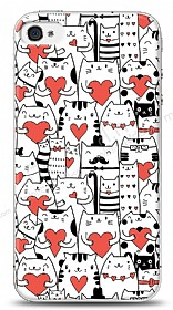 iPhone 4 / 4S Love Cats Kılıf