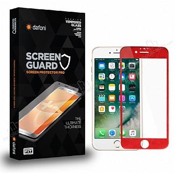 Dafoni iPhone 6 / 6S Curve Tempered Glass Premium Kırmızı Full Cam Ekran Koruyucu
