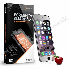 Dafoni iPhone 6 / 6S Tempered Glass Ayna Silver Cam Ekran Koruyucu