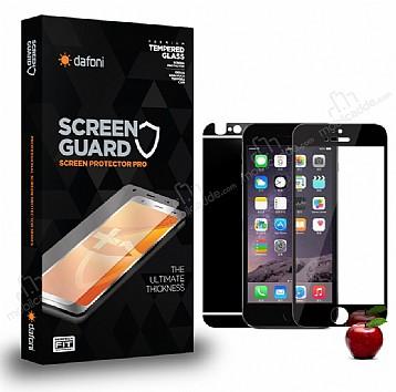 Dafoni iPhone 6 / 6S Ön + Arka Tempered Glass Ayna Siyah Cam Ekran Koruyucu