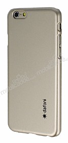 Dafoni iPhone 6 Plus / 6S Plus Metallic Thin Gold Rubber Kılıf