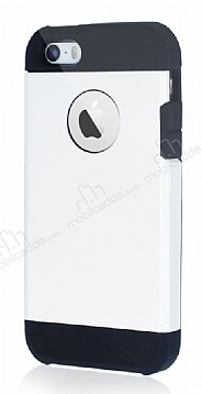 Dafoni iPhone SE / 5 / 5S Slim Power Beyaz Kılıf