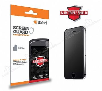 Dafoni iPhone SE / 5 / 5S Slim Triple Shield Mat Ekran Koruyucu