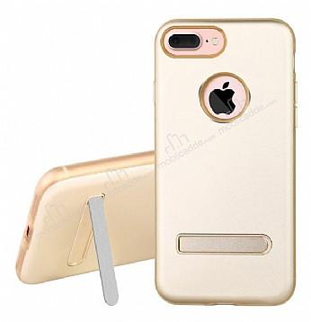 Dafoni iPhone 7 Plus / 8 Plus Standlı Ultra Koruma Gold Kılıf