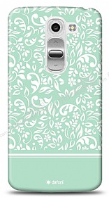 Dafoni LG G2 Mini Green Flower K�l�f