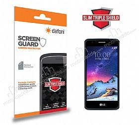 Dafoni LG K8 2017 Slim Triple Shield Ekran Koruyucu