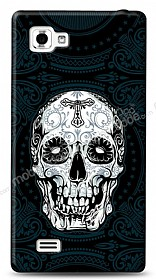 Dafoni LG Optimus 4X HD Black Skull Kılıf