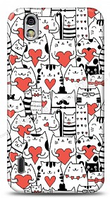 Dafoni LG Optimus Black Love Cats K�l�f