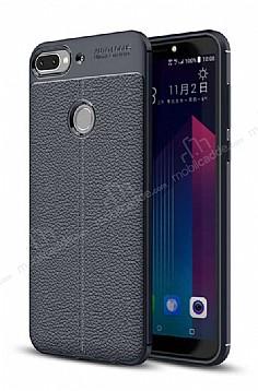 Dafoni Liquid Shield Premium HTC Desire 12 Plus Lacivert Silikon Kılıf