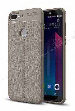 Dafoni Liquid Shield Premium HTC Desire 12 Plus Dark Silver Silikon Kılıf