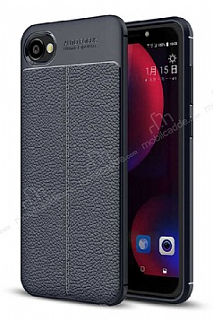 Dafoni Liquid Shield Premium HTC Desire 12 Lacivert Silikon Kılıf
