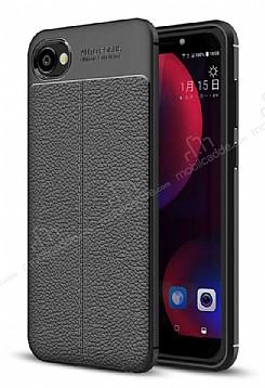 Dafoni Liquid Shield Premium HTC Desire 12 Siyah Silikon Kılıf