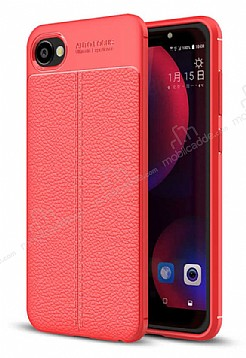 Dafoni Liquid Shield Premium HTC Desire 12 Kırmızı Silikon Kılıf