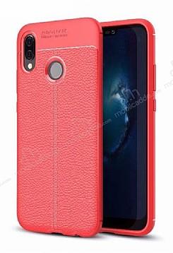 Dafoni Liquid Shield Premium Huawei P20 Lite Kırmızı Silikon Kılıf