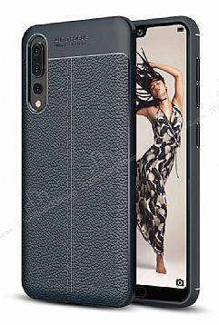 Dafoni Liquid Shield Premium Huawei P20 Lacivert Silikon Kılıf