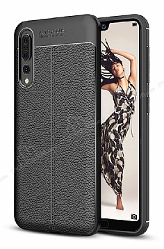 Dafoni Liquid Shield Premium Huawei P20 Siyah Silikon Kılıf