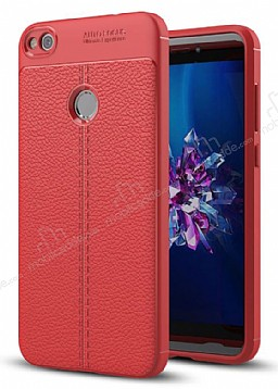 Dafoni Liquid Shield Premium Huawei P9 Lite 2017 Kırmızı Silikon Kılıf
