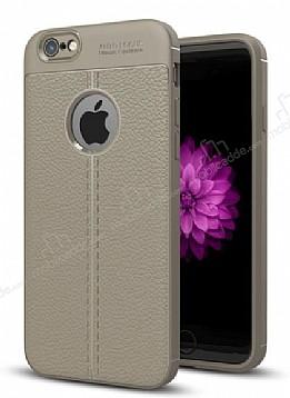 Dafoni Liquid Shield Premium iPhone 6 / 6S Gri Silikon Kılıf