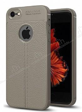 Dafoni Liquid Shield Premium iPhone SE / 5 / 5S Gri Silikon Kılıf