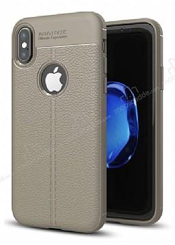 Dafoni Liquid Shield Premium iPhone X Gri Silikon Kılıf