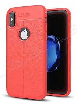 Dafoni Liquid Shield Premium iPhone X Kırmızı Silikon Kılıf