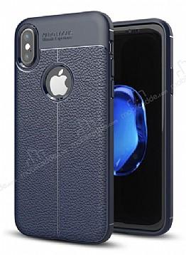 Dafoni Liquid Shield Premium iPhone X Lacivert Silikon Kılıf
