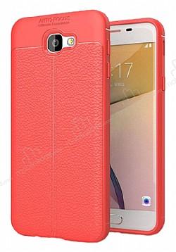 Dafoni Liquid Shield Premium Samsung Galaxy J7 Prime Kırmızı Silikon Kılıf