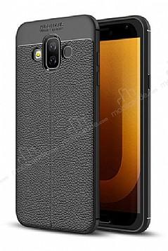 Dafoni Liquid Shield Premium Samsung Galaxy J7 Duo Siyah Silikon Kılıf