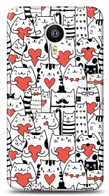 Dafoni Meizu MX4 Love Cats Kılıf