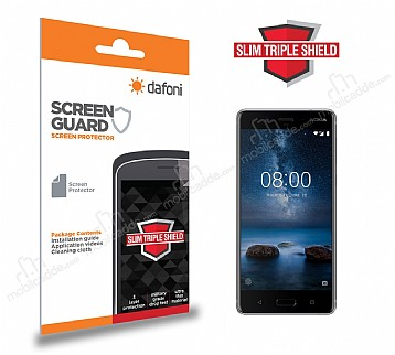 Dafoni Nokia 8 Slim Triple Shield Ekran Koruyucu