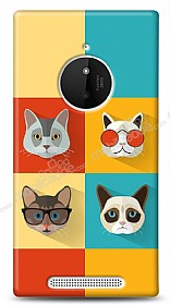 Nokia Lumia 830 Four Cats Kılıf