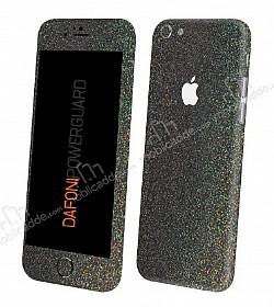 Dafoni PowerGuard iPhone 6 / 6S Ön + Arka + Yan Simli Siyah Kaplama Sticker