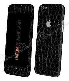 Dafoni PowerGuard iPhone 6 Plus / 6S Plus Ön + Arka + Yan Siyah Timsah Derisi Kaplama Sticker
