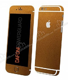 Dafoni PowerGuard iPhone 6 Plus Ön + Arka + Yan Gold Kaplama Sticker