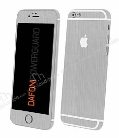 Dafoni PowerGuard iPhone 6S Plus Ön + Arka + Yan Silver Kaplama Sticker