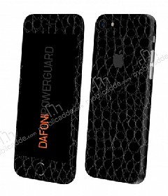 Dafoni PowerGuard iPhone 7 Ön + Arka + Yan Siyah Timsah Derisi Kaplama Sticker
